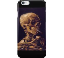 Vincent Van Gogh's 'Skull with a Burning Cigarette'  iPhone Case/Skin