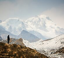 Looking at the Himalayas by Brent Olson