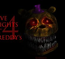 Five Nights at Freddy's 4 - Nightmare Fred Bear by quikdraw