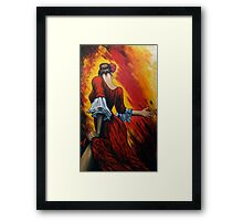 flamenco lady Framed Print