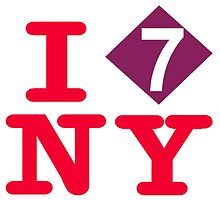 I love the number 7 express subway New York City by hookink