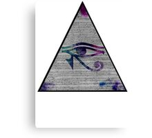 Eye of horus Edit Canvas Print