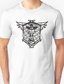 Cross Flame black and white T-Shirt