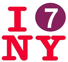 I love the number 7 subway New York City by hookink