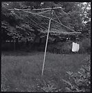 Old Collapsible Clothesline by Barbara Wyeth