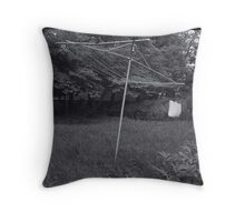Old Collapsible Clothesline Throw Pillow