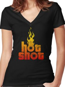 Hot Shot Women's Fitted V-Neck T-Shirt