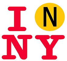 I love the N line subway New York City by hookink