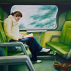 Green Train, oil on canvas, 2006. by fiona vermeeren