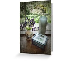 Violets on the Windowsill Greeting Card
