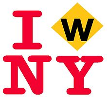 I love the W express subway New York City by hookink