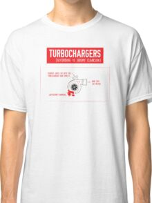 How Turbochargers work: by Jeremy Clarkson (red version) Classic T-Shirt