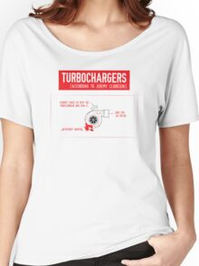 How Turbochargers work: by Jeremy Clarkson (red version) Women's Relaxed Fit T-Shirt