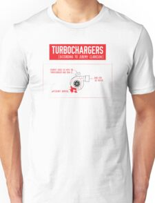 How Turbochargers work: by Jeremy Clarkson (red version) Unisex T-Shirt
