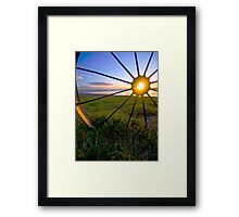 Wheel of Fire Geelong waterfront Framed Print