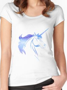 Unicorn - Watercolor Women's Fitted Scoop T-Shirt