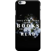 The Thing About Books iPhone Case/Skin