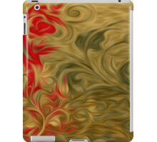 Abstract Flowers Oil Painting #7 iPad Case/Skin