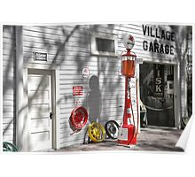 An Old Village Gas Station Poster