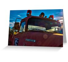Big Old Firetruck  Greeting Card