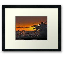 Splash - Newport Rockpools Framed Print