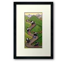 Skateboarding Nuns Framed Print