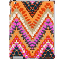 Bohemian print with chevron pattern in bright colors iPad Case/Skin