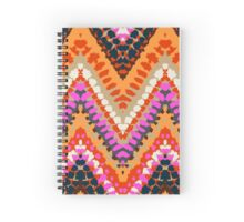 Bohemian print with chevron pattern in bright colors Spiral Notebook