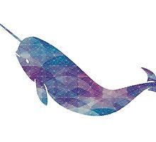 Narwhal - Geometric 2 by paperbouquet