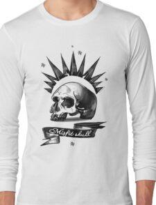 Misfit Skull White Long Sleeve T-Shirt