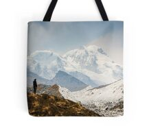 Looking at the Himalayas Tote Bag