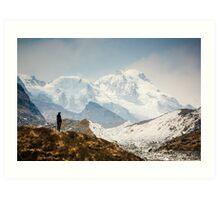 Looking at the Himalayas Art Print