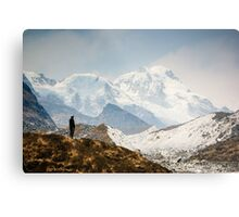 Looking at the Himalayas Metal Print