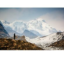 Looking at the Himalayas Photographic Print