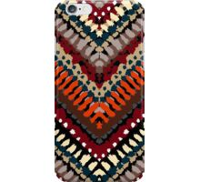 Bohemian print with chevron pattern in autumn colors iPhone Case/Skin
