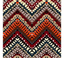 Bohemian print with chevron pattern in autumn colors Photographic Print