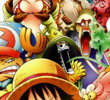 one piece punk hazard luffy zoro straw hat crew anime manga shirt Sticker