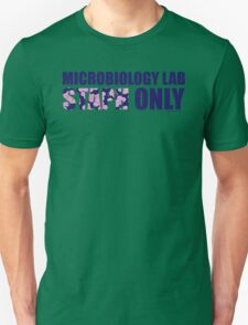 Microbiology Lab - Staph Only (Blue / Pink) T-Shirt