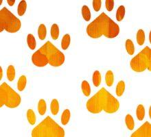 Autumn Colors Paw Print Pattern Sticker