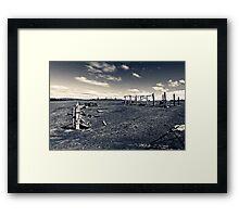 Plains wreck Framed Print