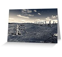 Plains wreck Greeting Card