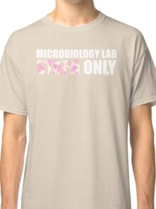 Microbiology Lab - Staph Only (White / Pink) Classic T-Shirt