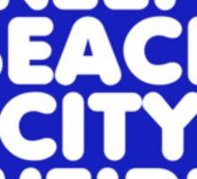 Keep Beach City Weird Button Sticker