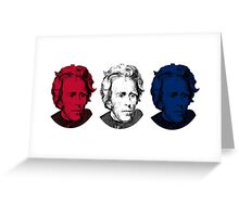 Andrew Jackson Red, White, and Blue Greeting Card