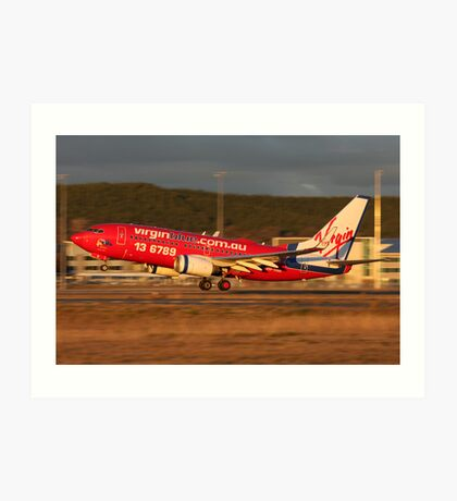 Virgin Blue 737 Art Print