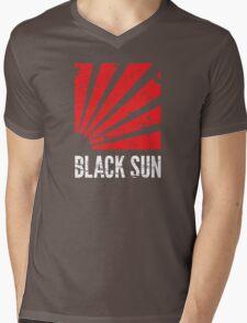 Black Sun T-Shirt Mens V-Neck T-Shirt