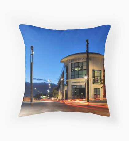 Streaky Throw Pillow
