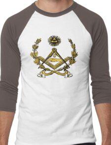 Seal of Masonry in color Men's Baseball ¾ T-Shirt