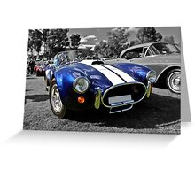 Blue AC Cobra Greeting Card