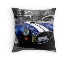 Blue AC Cobra Throw Pillow